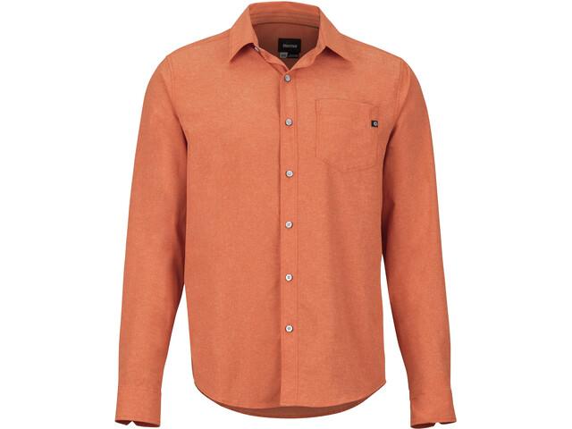 Marmot Aerobora Langarmhemd Herren orange haze